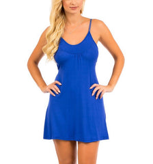 Cut Out Back A-Line Casual Dress in Blue