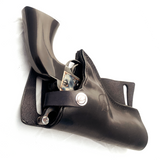 Black Center of the back revolver holster from Jettison Leather
