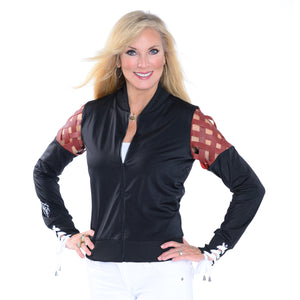 22a6485f4de Football Weave Jacket – The HOUSE of AKD by Angela King Designs