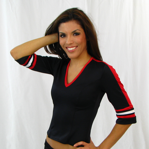 3/4 Sleeve Jersey Top