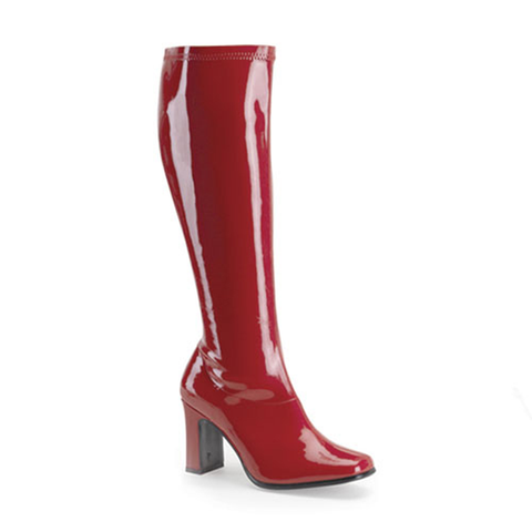 The AKD Boot - Red Patent Leather