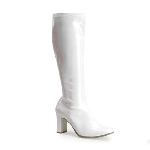 The AKD Boot - White Patent Leather