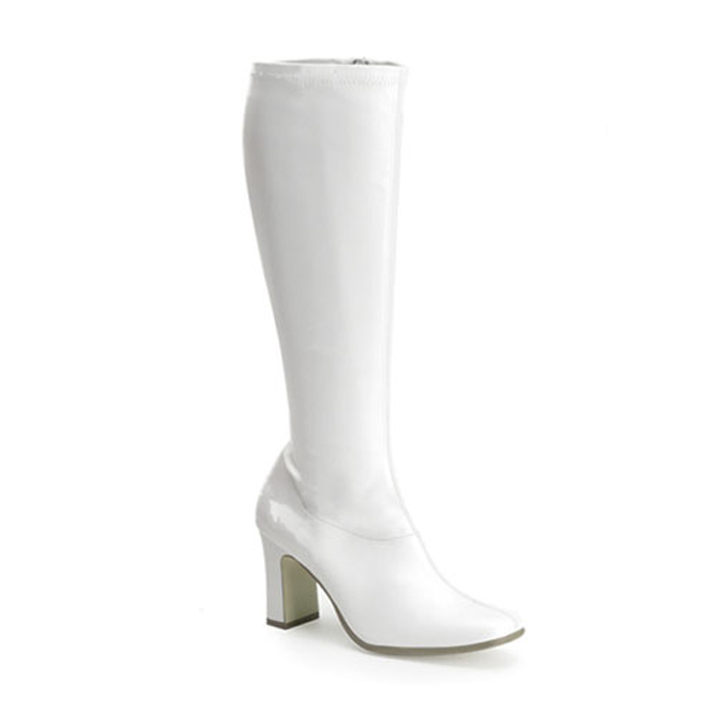 The AKD Boot - White Matte Faux Leather