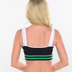 Athletic Stripe Mesh Top