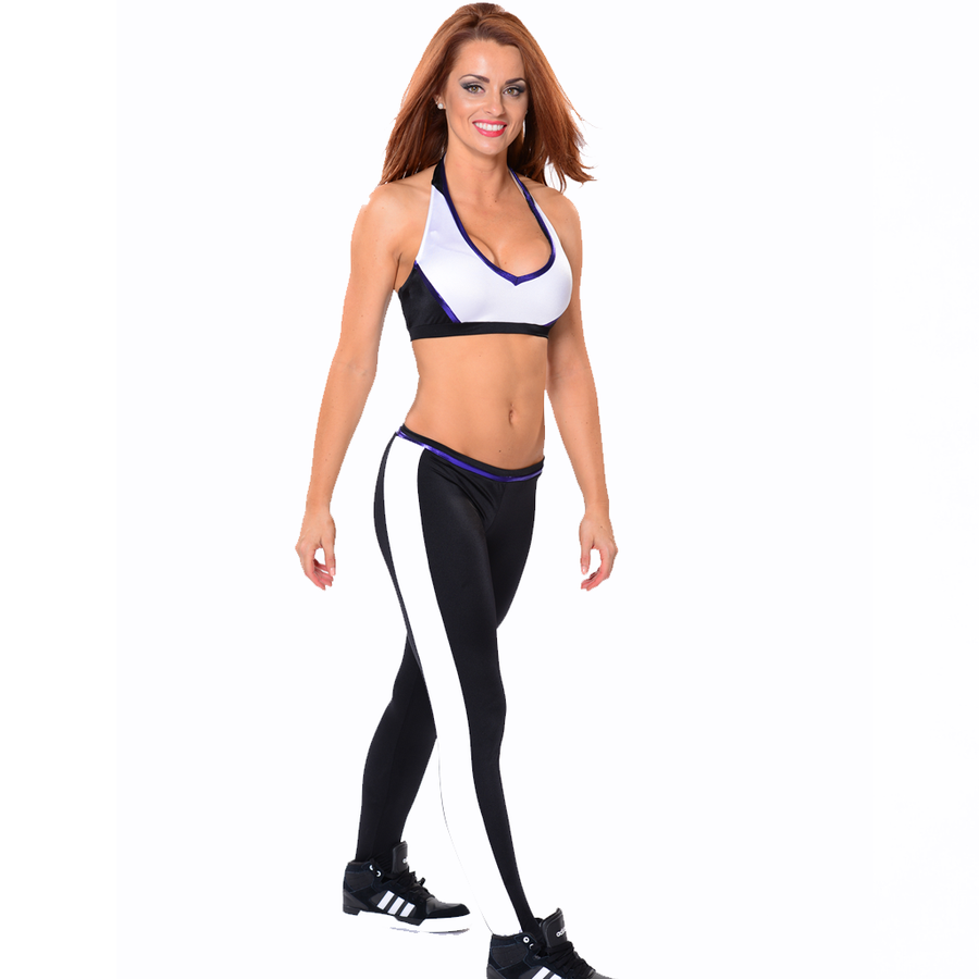 AKD Stripe Legging and Block Halter Set