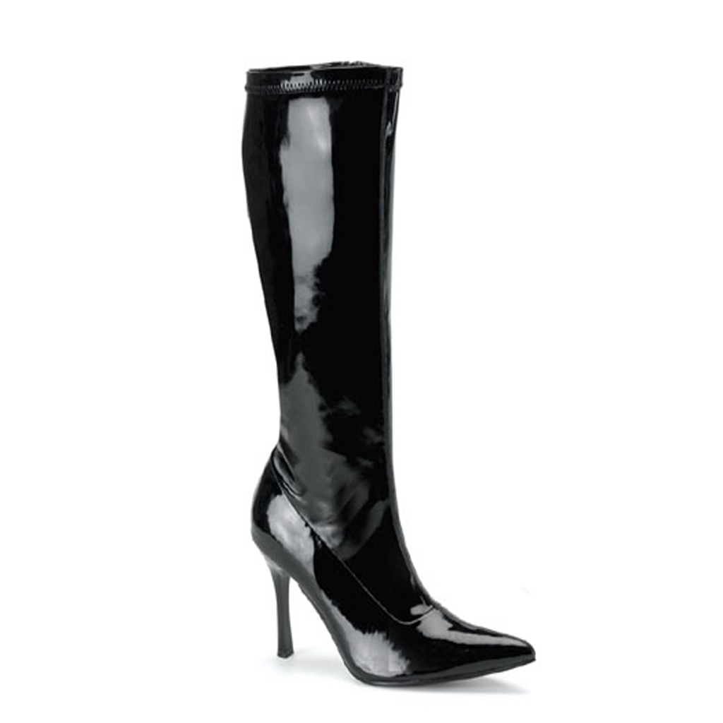 The Elite Black Patent Boot