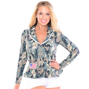 Military Peplum Top