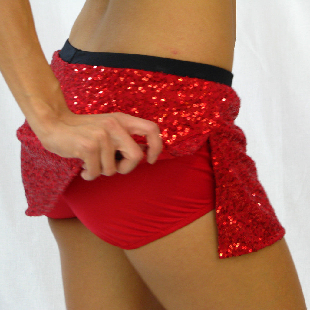 Sequin Skirt with Boy Shorts