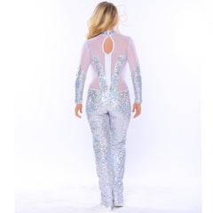 Hologram Sequin Jumpsuit