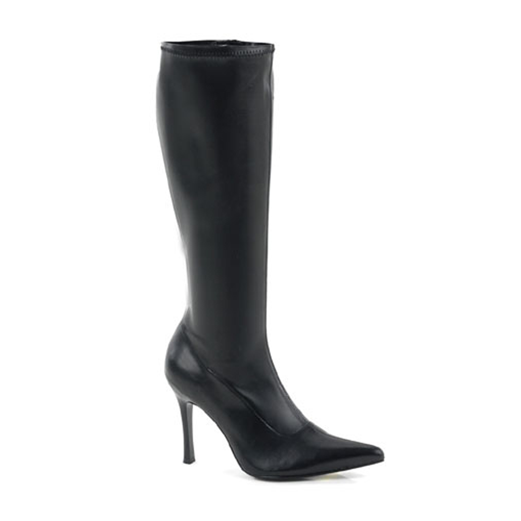 The Elite Boot - Black Matte Faux Leather