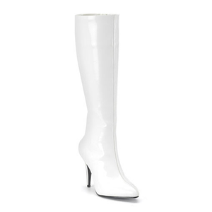 The Elite Boot - White Patent Leather