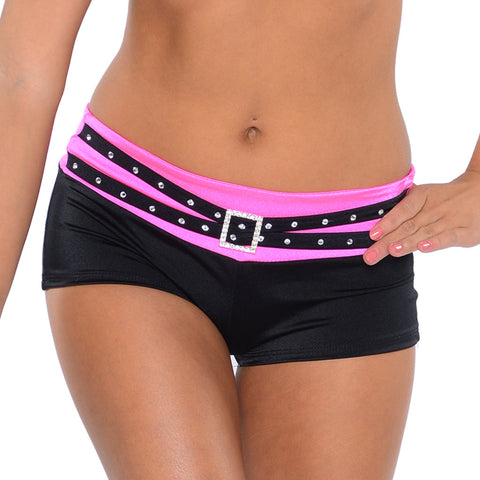 Rhinestone Buckle Short