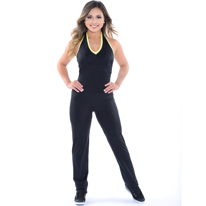Halter Back Catsuit