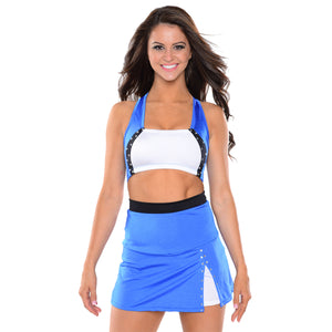 High Waist Skirt and Panel Top Set