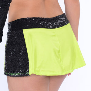 Sequin Panel Skirt