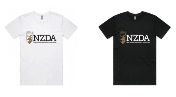 Mens Short Sleeve T Shirt with NZDA logo