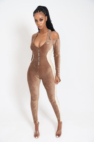 Contoured Jumpsuit- Brown Sugar