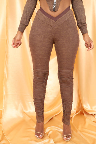 Sweat Leggings - Brown