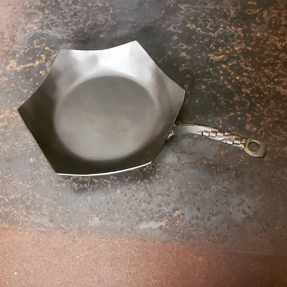Hand Forged HEX 11in Stir Fry Made to order