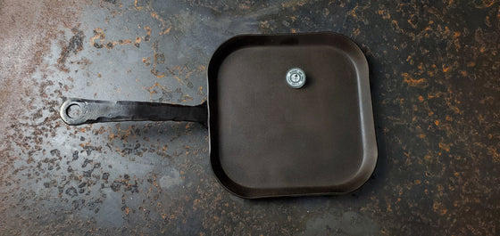 """The Lone Rider"" Hand forged rustic single burner flat griddle Made to order"