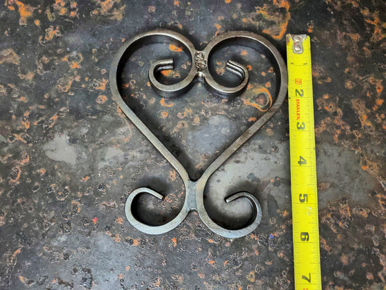 Hand forged Heart Trivet