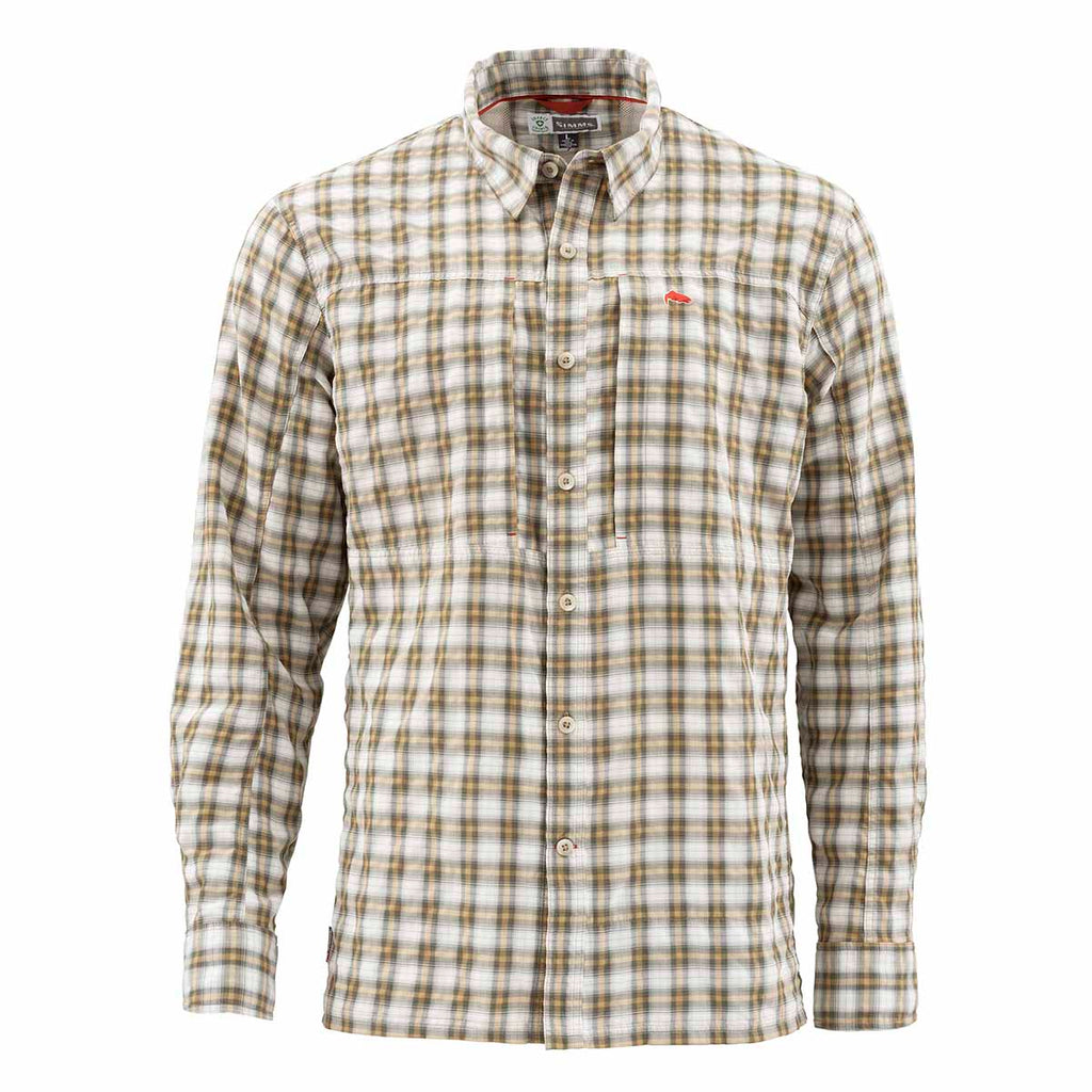 Simms Bugstopper Plaid Shirt, Cork Plaid