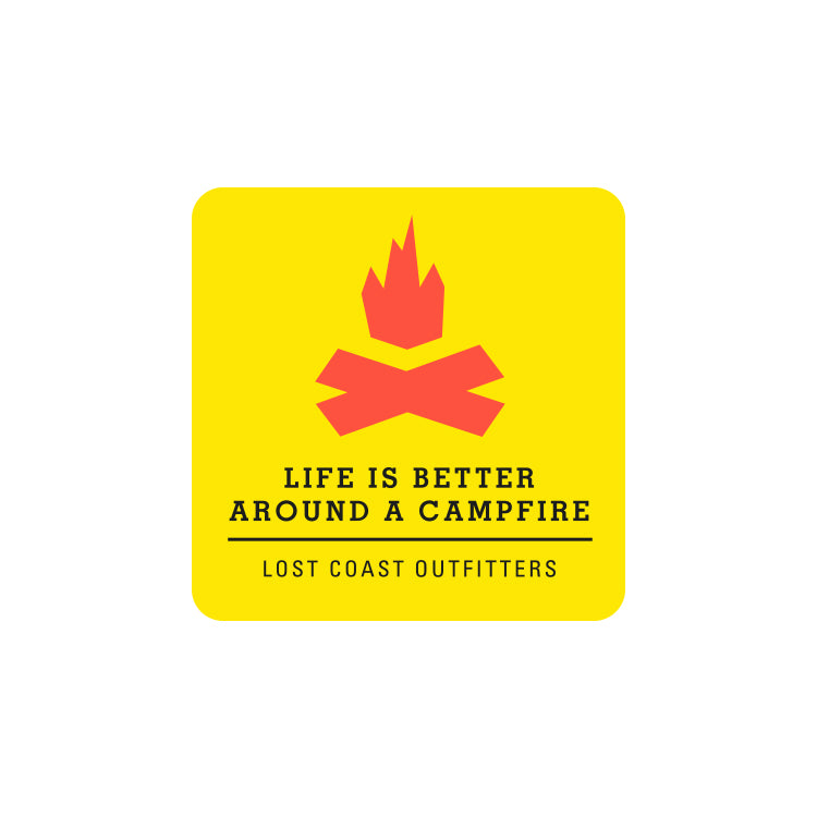 Lost Coast Campfire Sticker