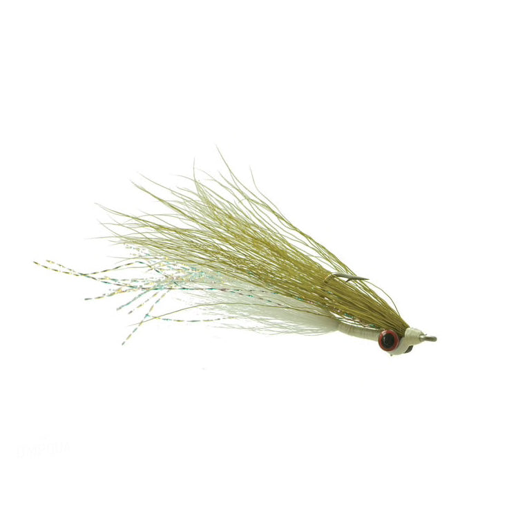 Clouser Minnow - Olive/White
