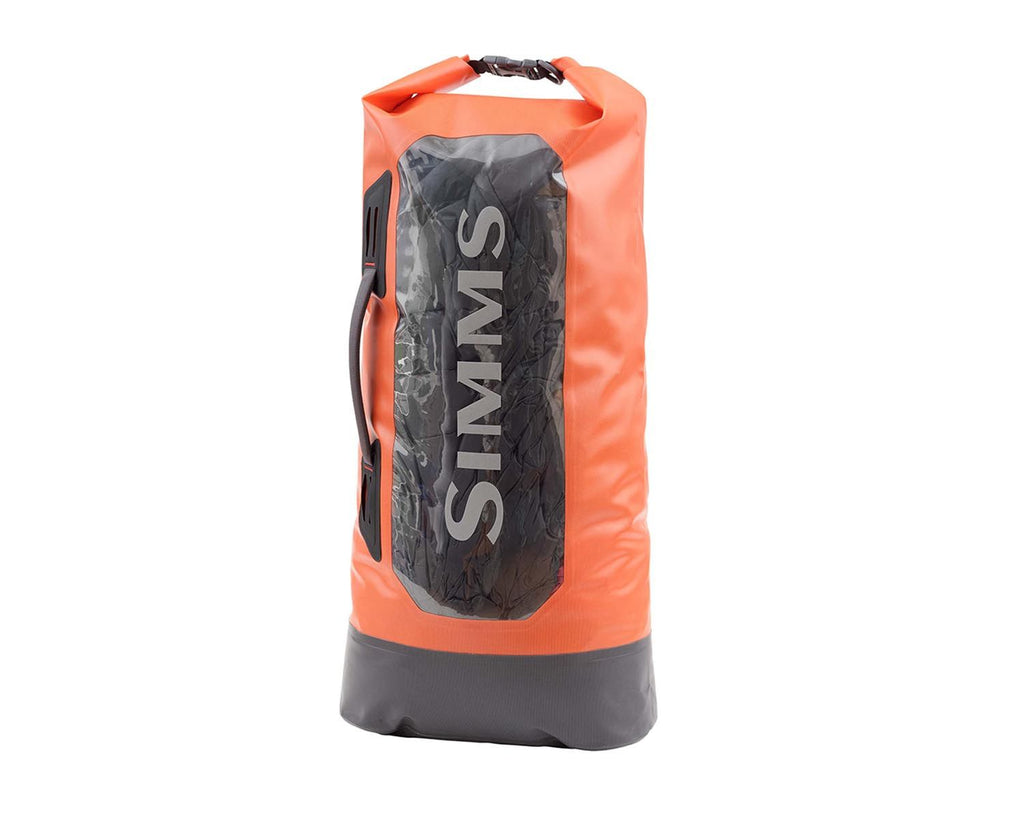 Simms Dry Creek Roll Top Bag, Orange, One Size
