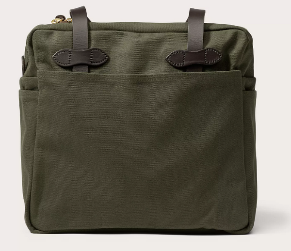 Filson Tote Bag, Green, Zippered