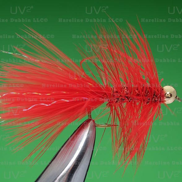 Perch Crystal Bugger, Red, sz 8