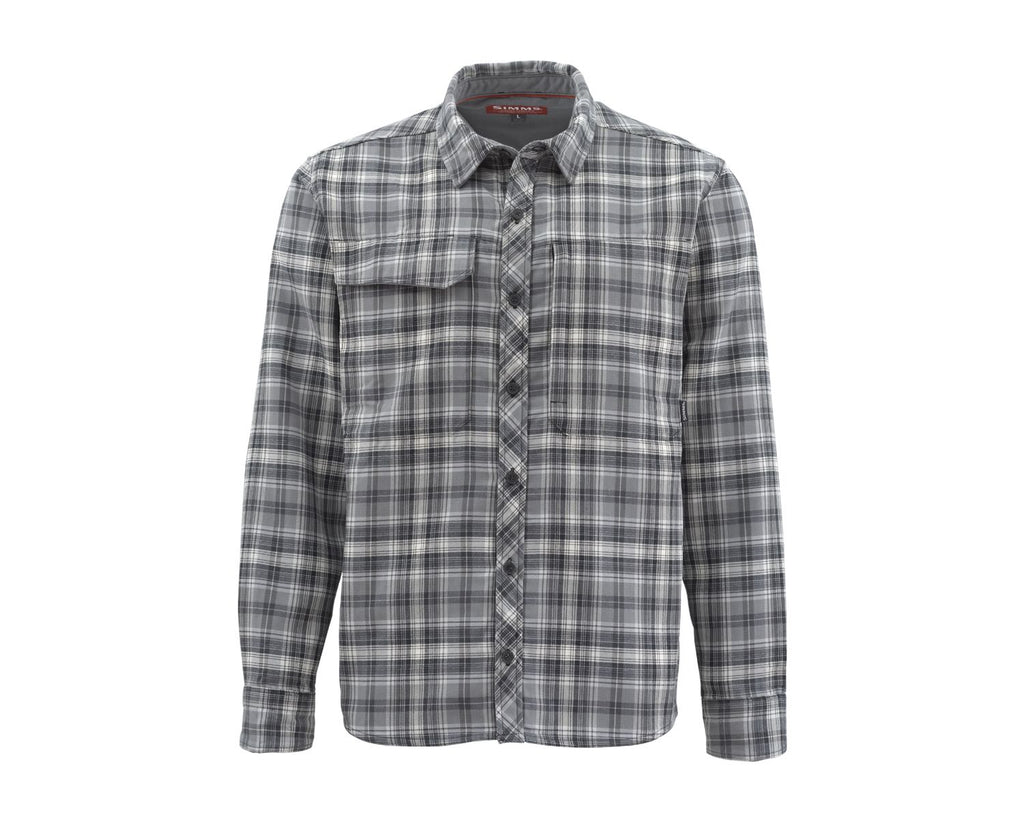 Simms Guide Flannel, Steel Plaid