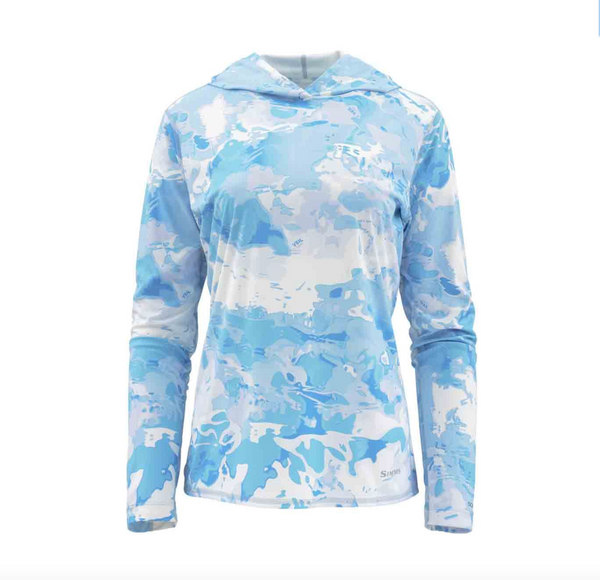 Simms Women's Solarflex Hoody - Cloud Camo Blue