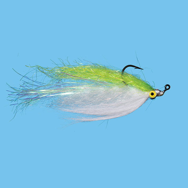 Solitude Flashtail Clouser Minnow - Chartreuse/White 1/0