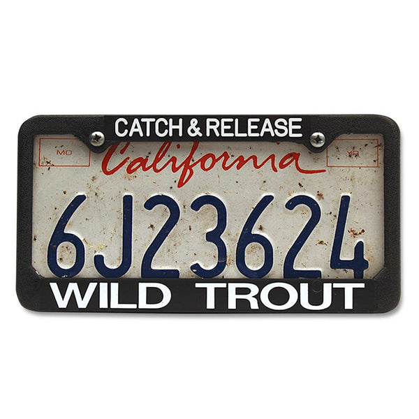 License Plate Frame Catch and Release Wild Trout