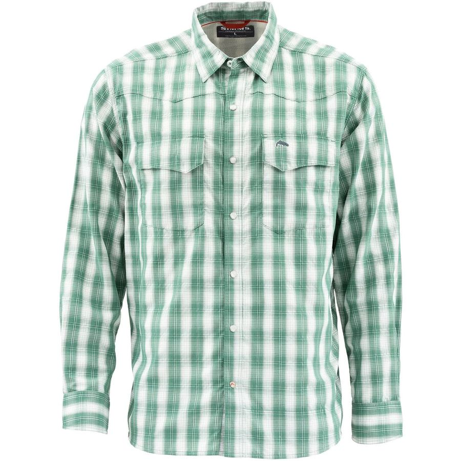 Simms Big Sky Fishing Shirt - Evergreen Plaid
