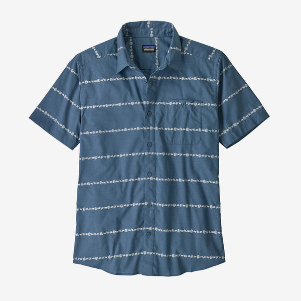 Patagonia M's Go to Shirt, Blue Stripe