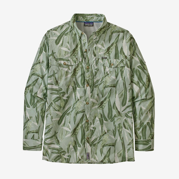 Patagonia L/S Sol Patrol Shirt, Tropical Fusion Big: Camp Green