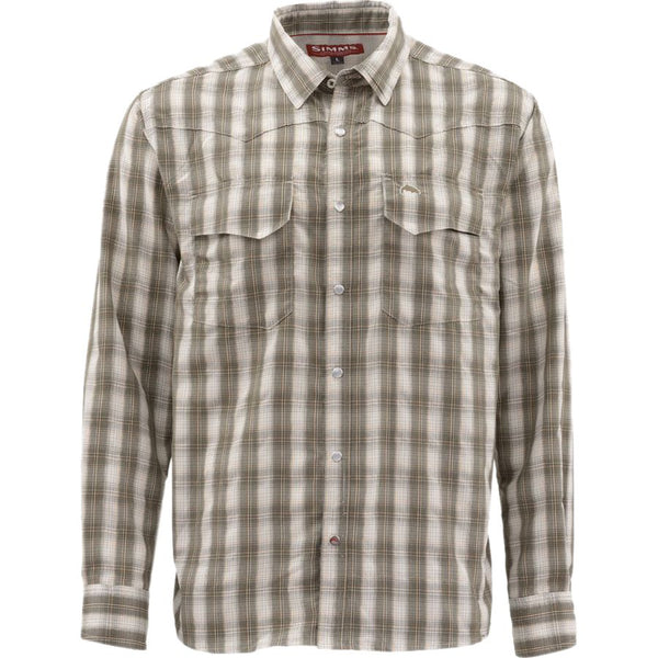 Simms Big Sky Fishing Shirt - Dark Stone Plaid