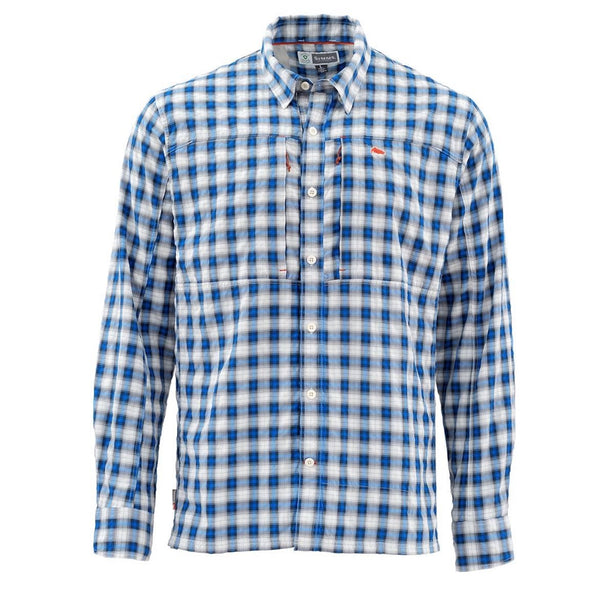 Simms Bugstopper LS Shirt-Blue Plaid