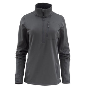 Simms Women's Fleece Midlayer 1/2 Zip - Raven