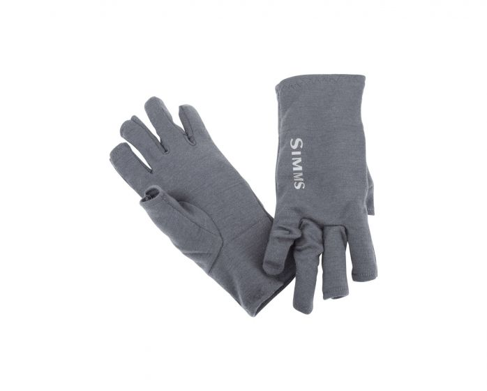 Simms Ultra-Wool Core 3-Finger Liner-Carbon
