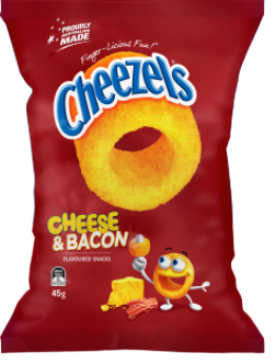 Cheezels Cheese & Bacon 45g x 18