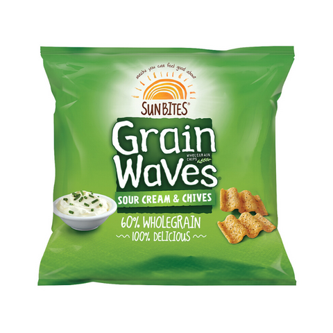 Grain Waves Sour Cream & Chives 28g x 21