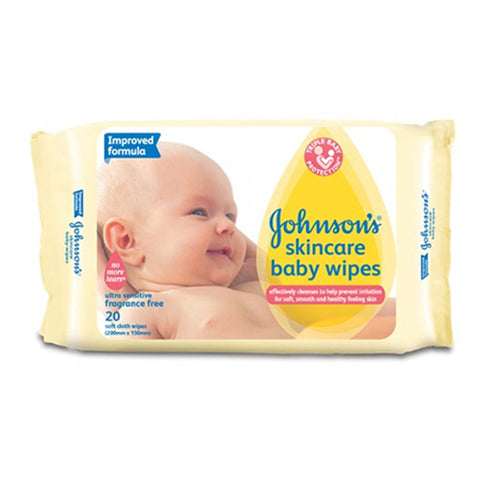 Johnson's Skincare Wipes 20 Pack x 12