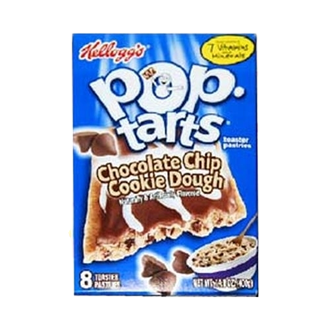US Pop Tarts Chocolate Chip Cookie Dough 400g