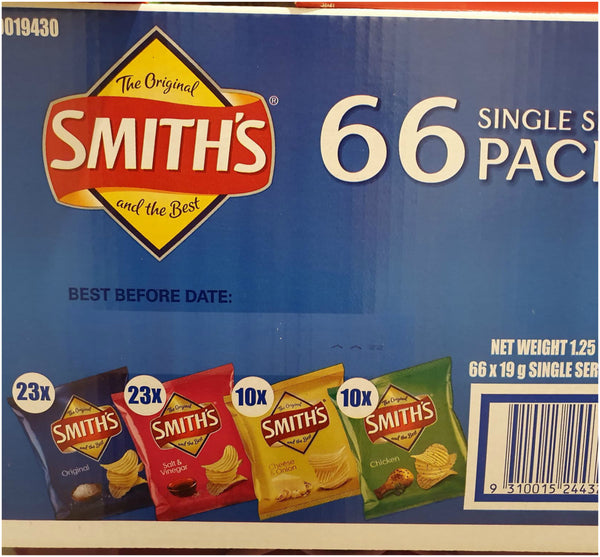 Smith's Chips Single Serve Packs x 66
