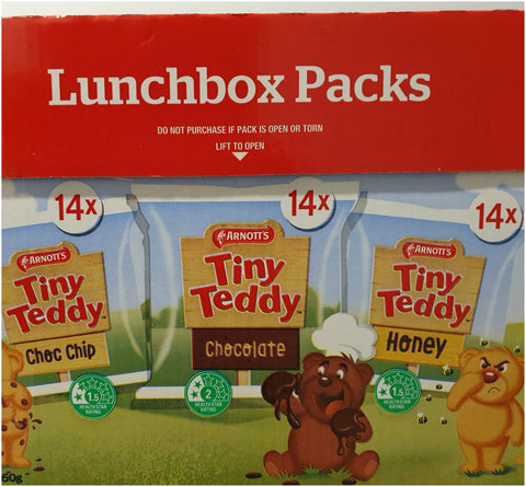 Tiny Teddy Lunchbox Packs x 42