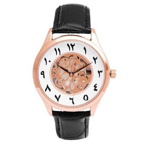 montre chiffre arabe rose gold