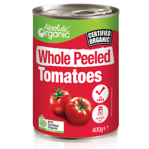 Absolute Organic Whole Peeled Tomatoes 400g
